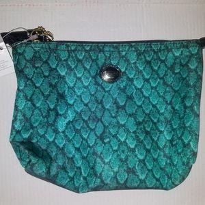 Coach mini snake skinned print cosmetic bag